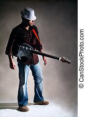 ギター, player.