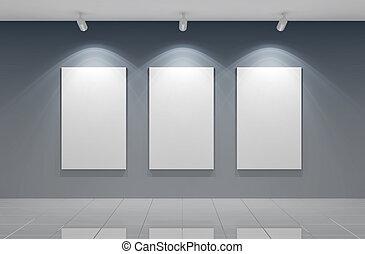 ギャラリー, 壁
