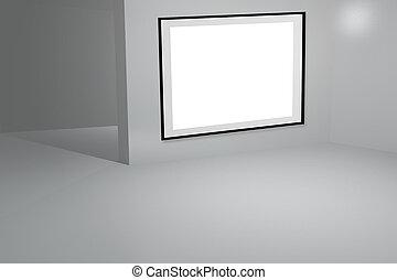ギャラリー, 白い背景