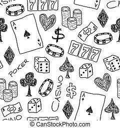 ギャンブル, いたずら書き
