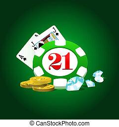 ギャンブル, イラスト, キット
