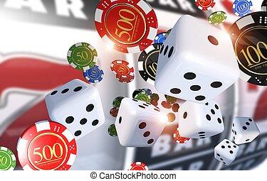 ギャンブル, カジノ, イラスト