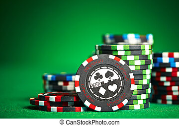 ギャンブル, コピー, チップ, スペース