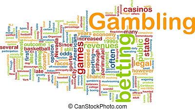 ギャンブル, 単語, 雲