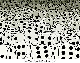 ギャンブル, 抽象的, -, 構成, さいの目に切る