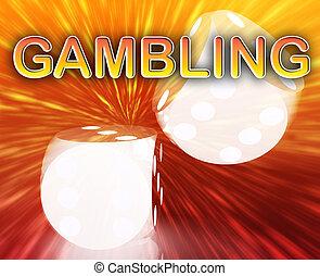 ギャンブル, 概念, さいころ, 背景