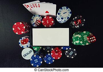 ギャンブル, 概念, オンラインで, カジノ