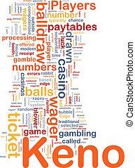 ギャンブル, 概念, keno, 背景