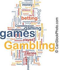 ギャンブル, 賭け, 概念, 背景