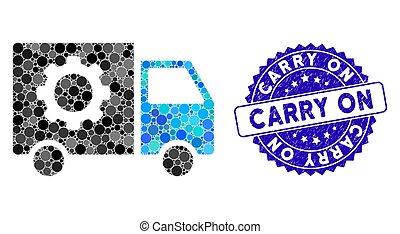 ギヤ, コラージュ, アイコン, 道具, 切手, textured, 届きなさい, 自動車, 出産