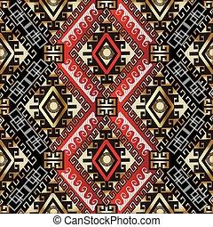 ギリシャ語, スタイル, pattern., seamless, 民族