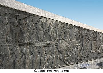 ギリシャ語, 古代, 同様に, プラク, ∥において∥, 偉人, アレキサンダー, 記念碑, ∥において∥, thessaloniki, ギリシャ