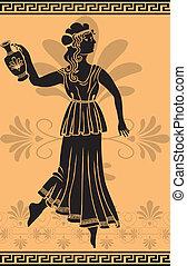 ギリシャ語, 女, 型板, amphora