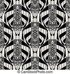 ギリシャ語, 幾何学的, pattern., seamless