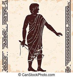 ギリシャ語, men., 古代