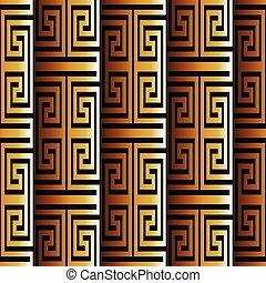ギリシャ語, pattern., seamless, 3d