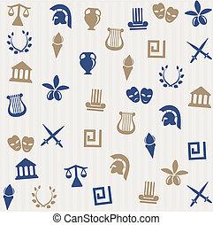 ギリシャ語, seamless, パターン
