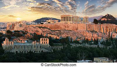 ギリシャ, アクロポリス, アテネ, -