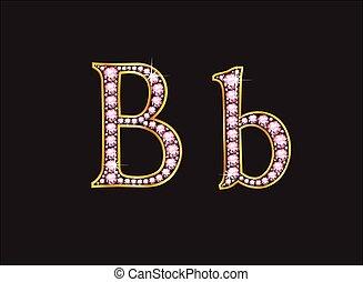 クォーツ, bb, バラ, 行きなさい, 宝石で飾られる, 壷