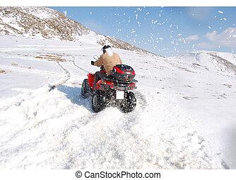 クォード, 漂流, 雪