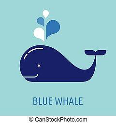 クジラ, スピーチ, 泡, アイコン