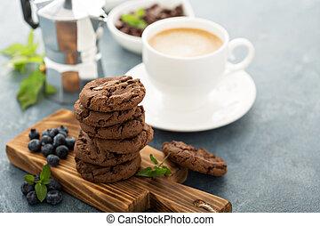 クッキー, コーヒー, チョコレート