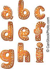 クッキー, セット, 手紙