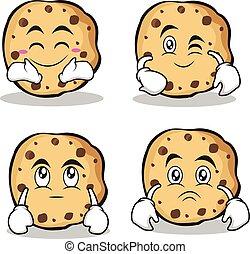 クッキー, セット, 甘い, 特徴, コレクション, 漫画