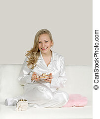 クッキー, 女, 若い, payamas