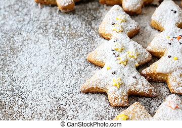 クッキー, 木, 形, クリスマス