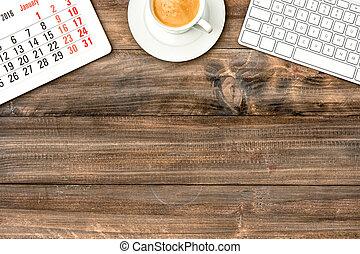 クッキー, coffee., タブレット, デジタル, pc, キーボード, クリスマス