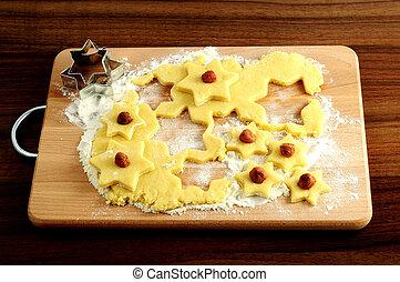クッキー, nutes., クリスマス, 手製