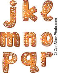 クッキー, r, セット, 手紙, j