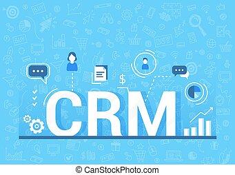クライアント, 顧客, 管理, illustration., 関係, concept., 仕事, ベクトル, 構成, データ, crm