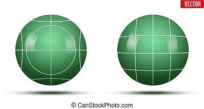 クラシック, ボール, 緑, bocce