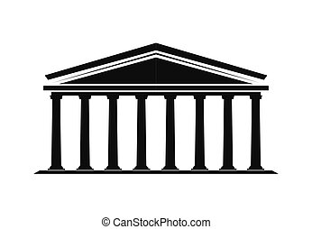 クラシック, 建物, ロゴ, 劇場, コラム, ベクトル