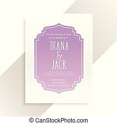 クラシック, 招待, デザイン, カード, 結婚式