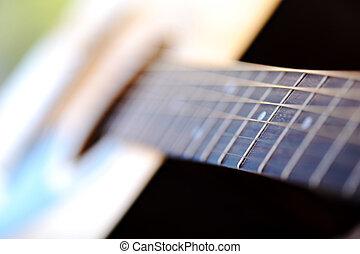 クラシック, 浅い, 細部, ギター, フィールド, 深さ