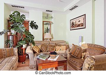 クラシック, drawing-room, 内部, ∥で∥, rococo 様式, 家具