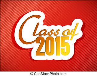 クラス, の, 2015., 卒業, イラスト, デザイン