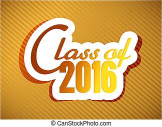 クラス, の, 2016., 卒業, イラスト, デザイン