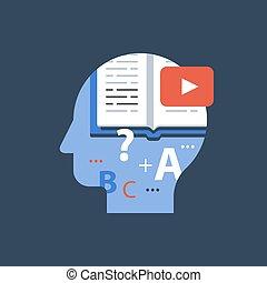 クラス, 試験, チュートリアル, 大学, 準備, ビデオ, オンラインで, 遠い, 教育
