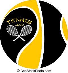 クラブ, シンボル, テニス, すてきである