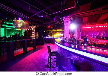 クラブ, スタイル, 現代, ヨーロッパ, 夜