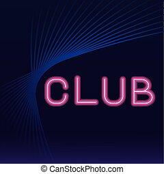 クラブ, ネオン, 広告