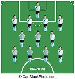 クラブ, フットボール選手, ゲーム, コンピュータ, アルゼンチン