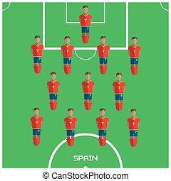 クラブ, フットボール選手, ゲーム, コンピュータ, スペイン