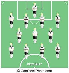 クラブ, フットボール選手, ゲーム, コンピュータ, ドイツ