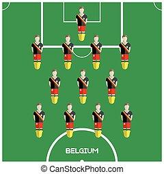 クラブ, フットボール選手, ゲーム, コンピュータ, ベルギー
