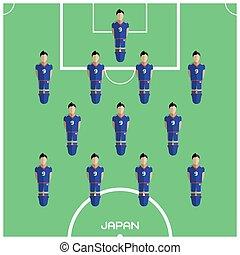 クラブ, フットボール選手, ゲーム, コンピュータ, 日本